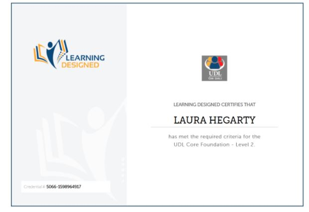 Laura Hegarty CAST Credential – Level 2 (Core)